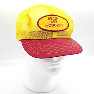Vintage Snapback Ready Mix Concrete Trucker Hat